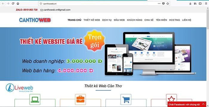 TOP NHỮNG CÔNG TY THIẾT KẾ WEB CHUYÊN NGHIỆP NHẤT TẠI CẦN THƠ