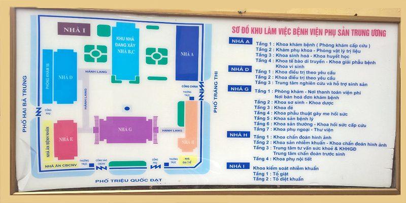 Các phòng khám và điều trị chức năng tại Bệnh viện Phụ Sản Trung ương