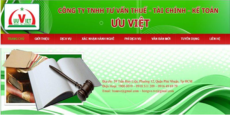 Công ty TNHH Đại lý Thuế Tài Chính Kế Toán Ưu Việt