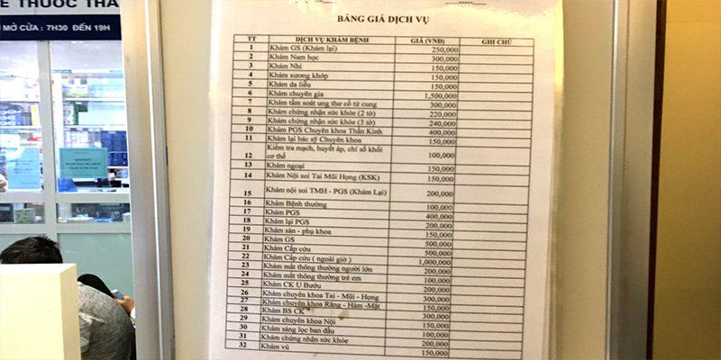 Giá khám tại Bệnh viện An Việt