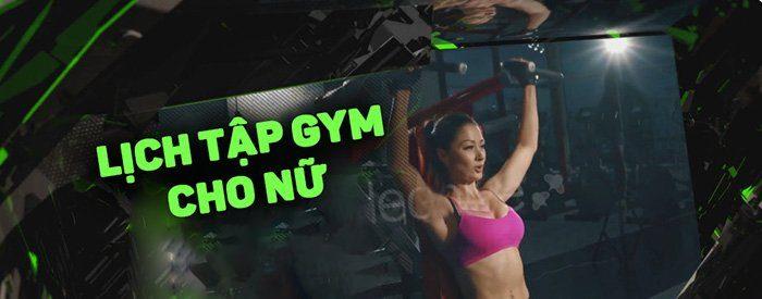 lịch tập gym giảm cân cho nữ